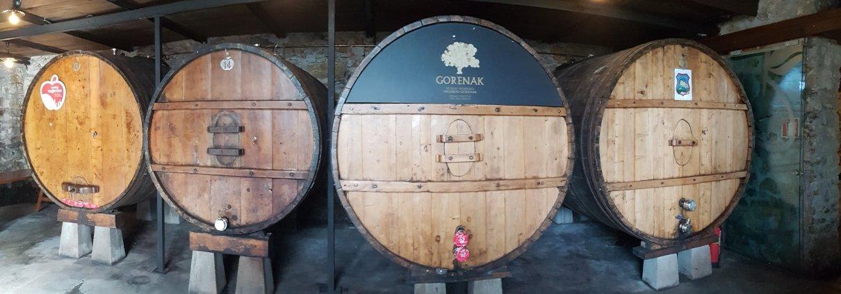 Cider Barrels at Basque Cider House