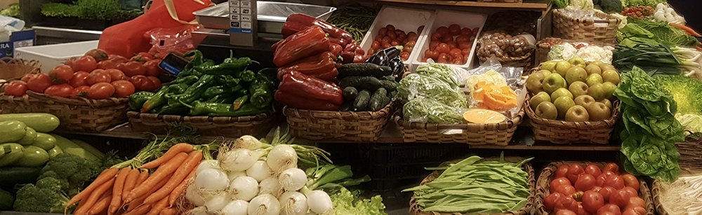 Market stall with fresh seasonal vegetables visited during our Market Tour in San Sebastian